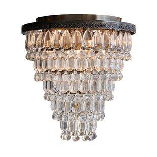 Read Reviews Dix 7-Light Crystal Flush Mount By Willa Arlo Interiors