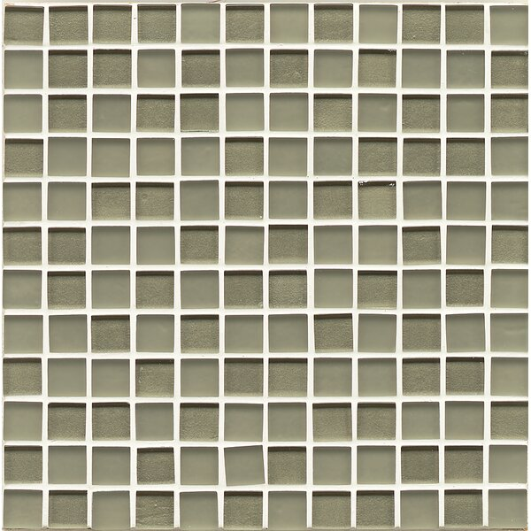Remy Glass 0.94 x 0.94 Glass Mosaic Tile in Verdant by Grayson Martin