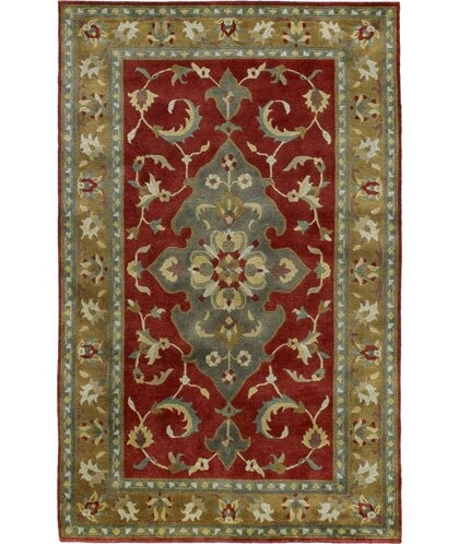 Baudin Tibetan Red/Gray Area Rug by Darby Home Co