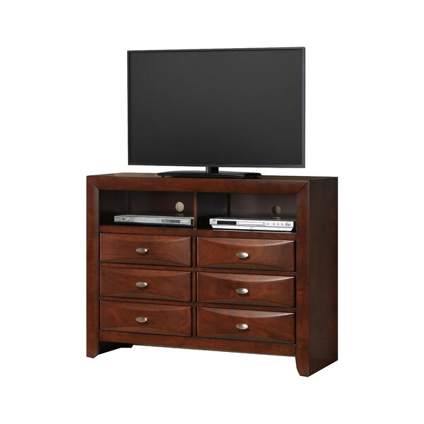 Plumwood Fully Assembled 6 Drawer TV Chest by Red Barrel Studio