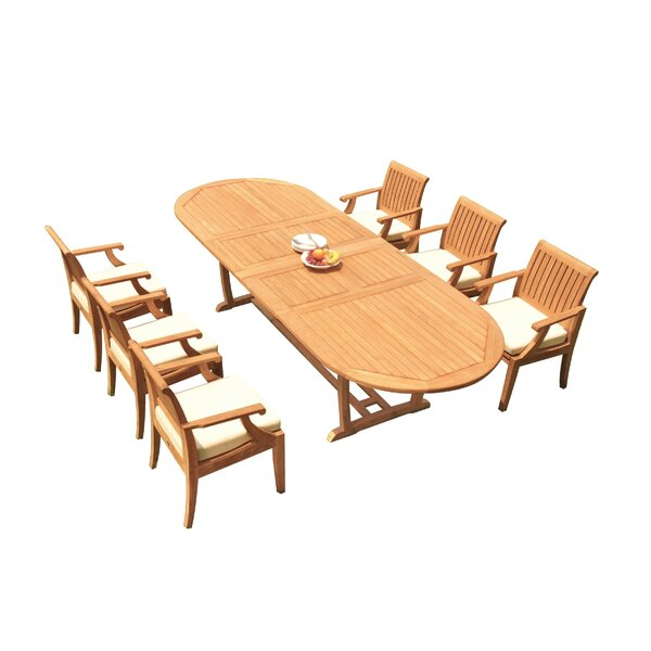 Fredela 7 Piece Teak Dining Set by Rosecliff Heights