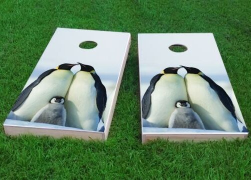 Penguin Family Cornhole Game (Set of 2) by Custom Cornhole Boards