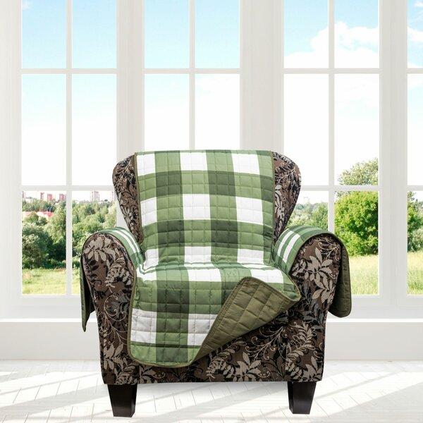 Plaid Box Cushion Armchair Slipcover By August Grove