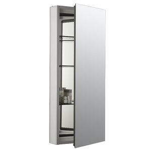 Catalan 15 x 36 Aluminum Single-Door Medicine Cabinet with 107 Degree Hinge by Kohler