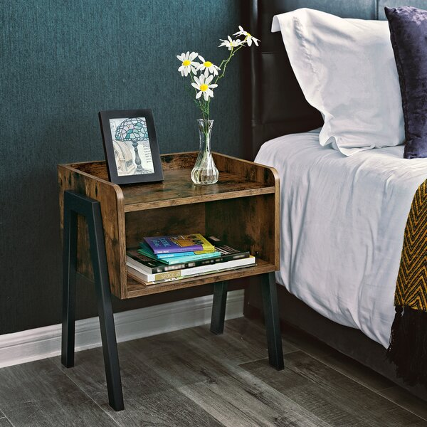 Osiris Wood Stackable End Table with Storage by Andover Mills