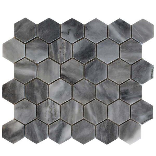 Honeycomb 2 x 2 Marble Mosaic Tile in Bardiglio by Ephesus Stones