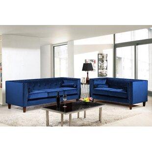 Lupe 2 Piece Velvet Living Room Set by Mercer41