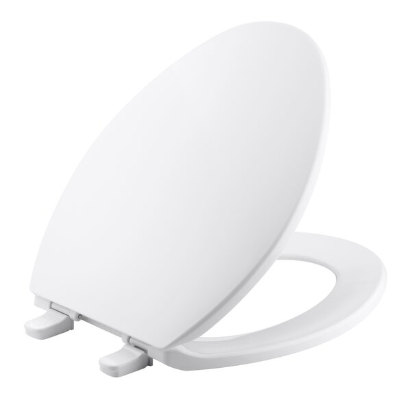 Brevia Quick-Release Hinges Elongated Toilet Seat by Kohler