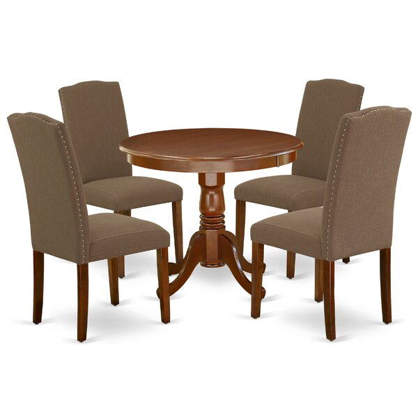 Karyn 5 Piece Solid Wood Dining Set by Alcott Hill Alcott Hill