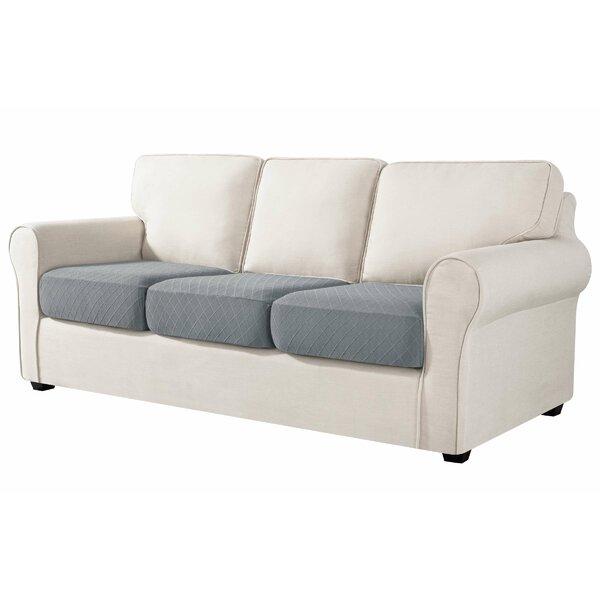 Box Cushion Sofa Slipcover (Set Of 3) By Symple Stuff