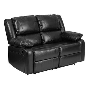Harmony Series Leather Reclining Loveseat Offex