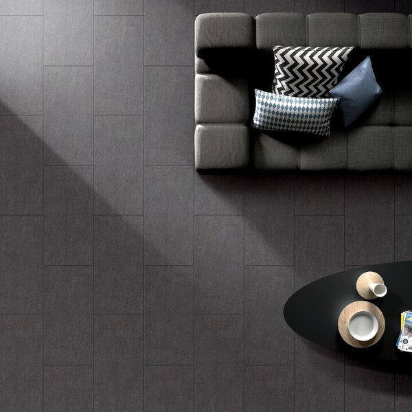 Kertech Series 12 x 24 Porcelain Field Tile in Nero by RD-TILE