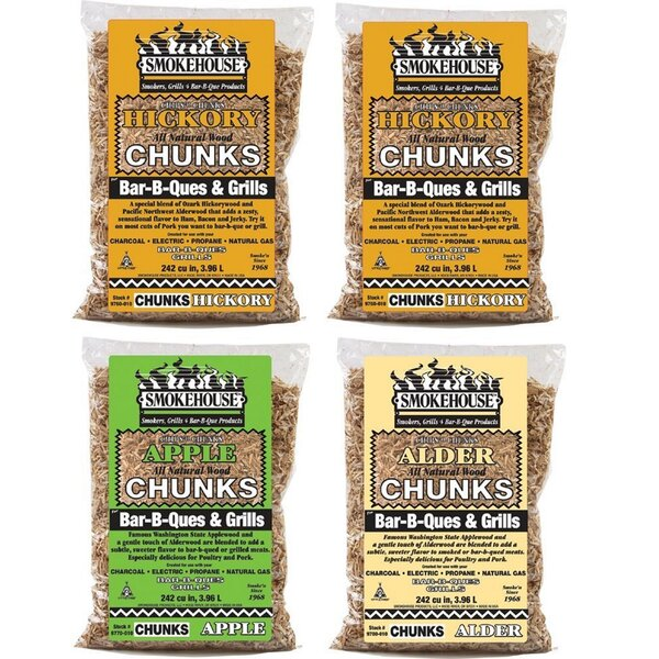 Wood Chunks 4 Pack Assortment by Smokehouse Products