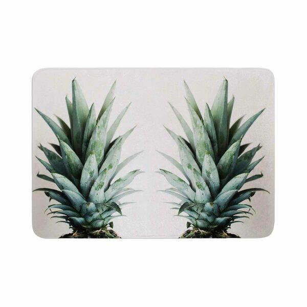 Two Pineapples Memory Foam Bath Rug by East Urban Home