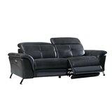 Boruta Leather Reclining Sofa by Orren Ellis