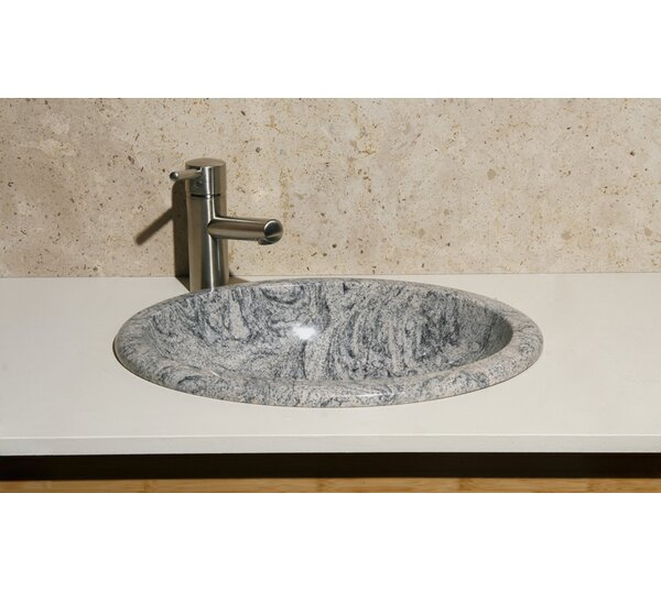 Meridian Stone Oval Drop-In Bathroom Sink by Allstone Group