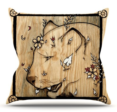 Panther by Jennie Penny Outdoor Throw Pillow by East Urban Home