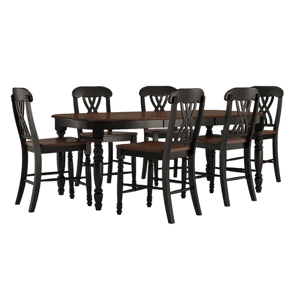 Ashleigh 7 Piece Dining Set by Alcott Hill
