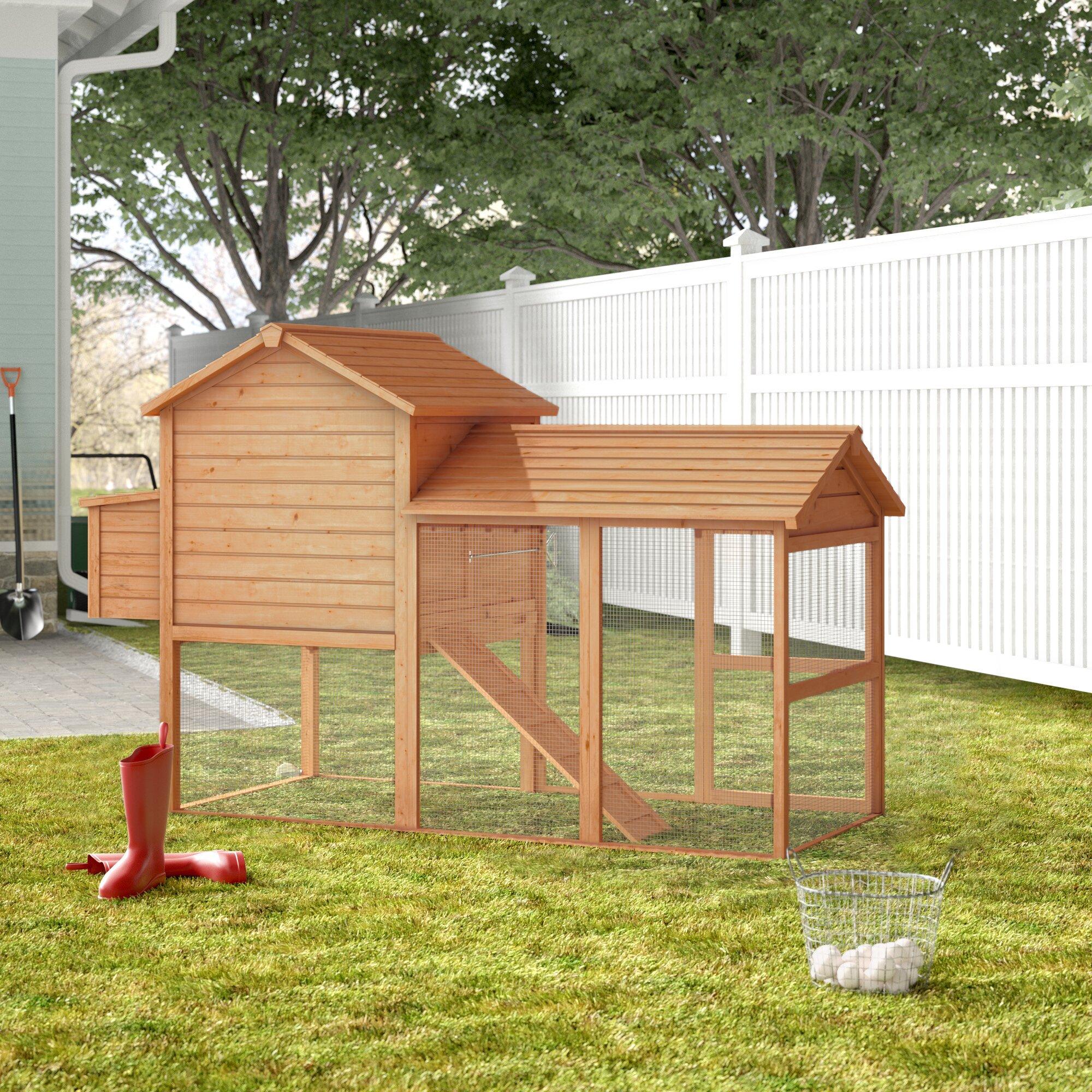 Tucker Murphy Pet Belinda Deluxe Portable Backyard Chicken Coop