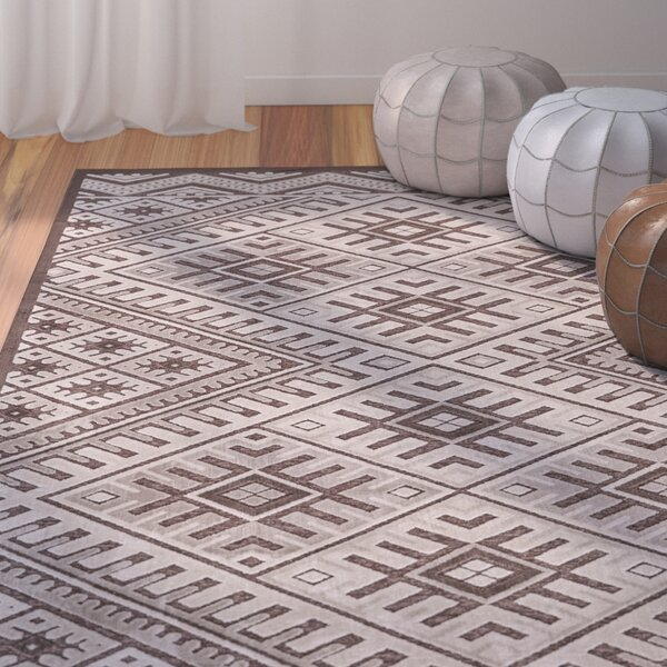 Vivienne Coffee/Brown Area Rug by Bungalow Rose
