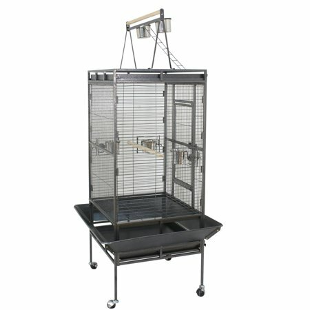 Bade 68 Metal Wheel Bird Cage and Stand by Tucker Murphy Pet