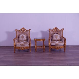 Townson Damask 3 Piece Living Room Set by Astoria Grand