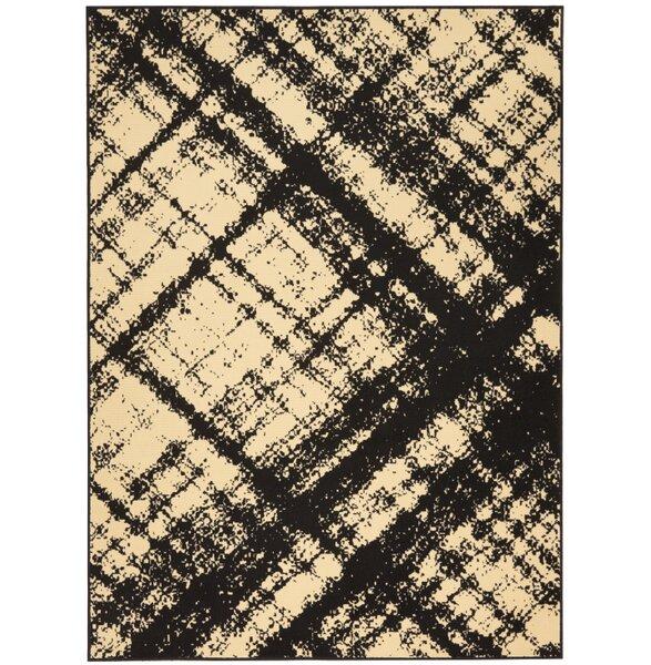 Walton Cream/Black Indoor Area Rug by Williston Forge