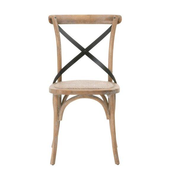Pool Rattan Solid Wood Dining Chair (Set of 2) by Loon Peak