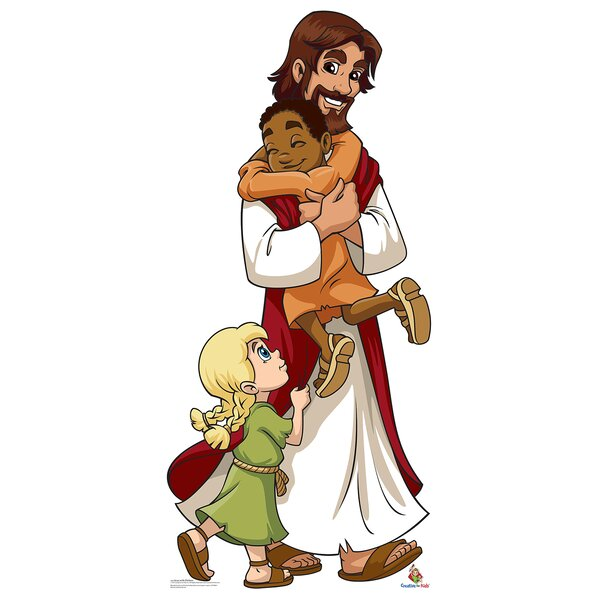 Jesus with Children Life Size Cardboard Cutout Standup by Advanced Graphics