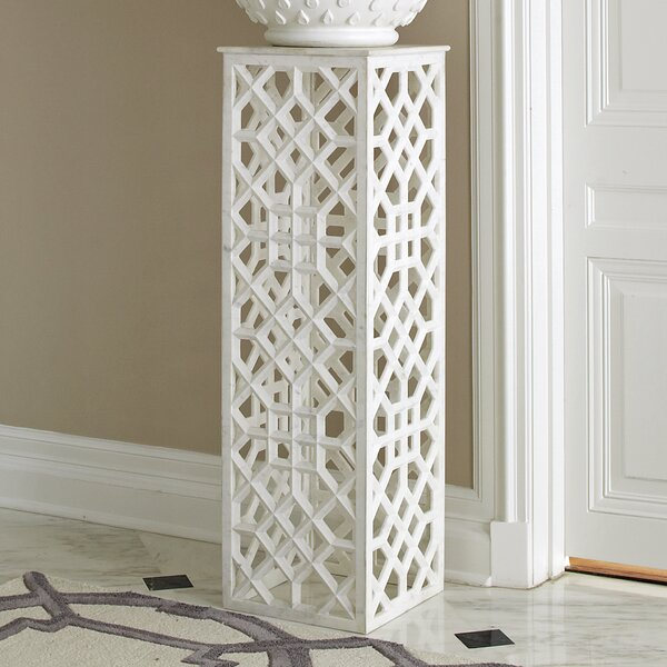 Marble Fret Pedestal by Global Views