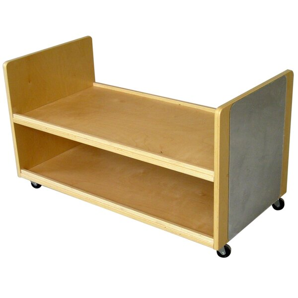 Treasure 2 Compartment Shelving Unit with Wheels by A+ Child Supply