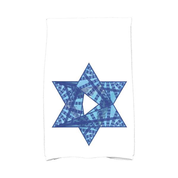 Hannukah Star Mosaic Hand Towel by The Holiday Aisle