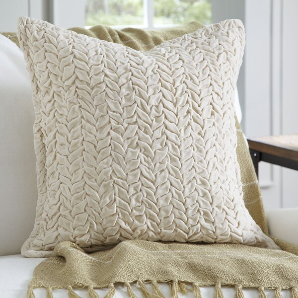 Bradninch Velvet Quilted Pillow Cover by Eider & Ivory