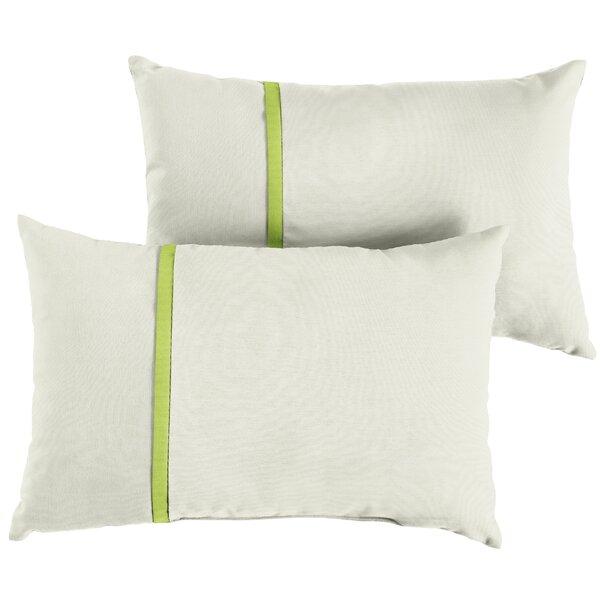 Follis Indoor/Outdoor Sunbrella Lumbar Pillow (Set of 2) by Charlton Home