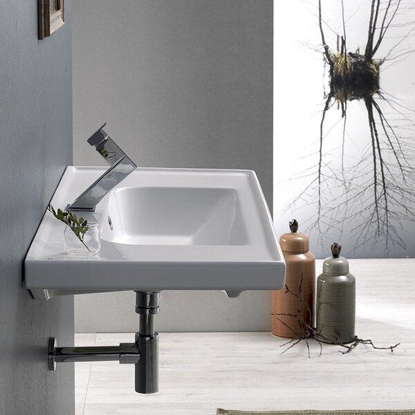 Frame Ceramic Rectangular Drop-In Bathroom Sink with Overflow by CeraStyle by Nameeks