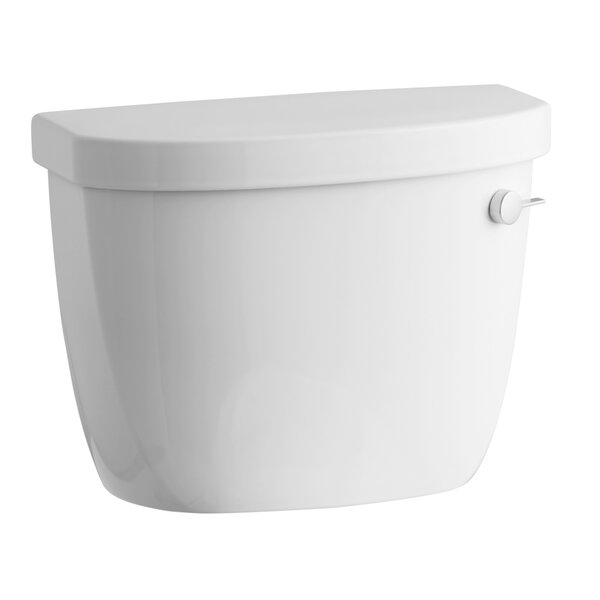 Cimarron 1.6 GPF Toilet Tank with Aquapiston Flush Technology, Right-Hand Trip Lever and Tank Locks by Kohler