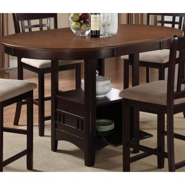 Jelks Dual-Tone Counter Height Extendable Dining Table by Winston Porter