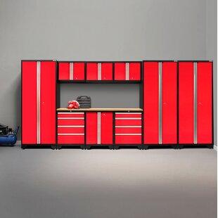 Bold 3 0 10 Piece Garage Storage Cabinet Set With Worktop