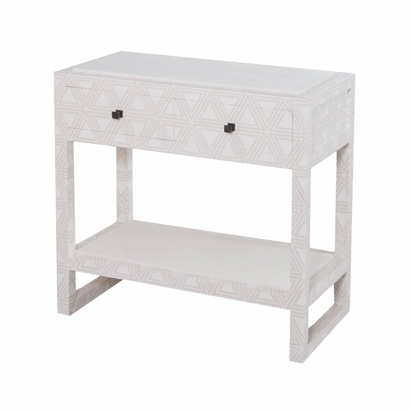 Andros 2 - Drawer Nightstand In Gray By Bloomsbury Market