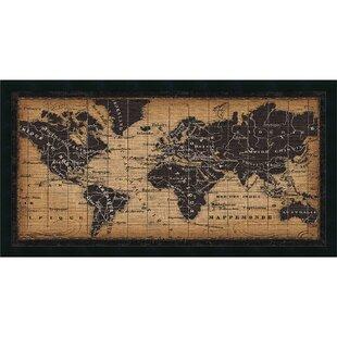 World map cork board wayfair old world map framed graphic art gumiabroncs Gallery