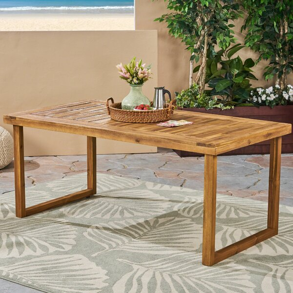 Lynx Wooden Dining Table by Millwood Pines