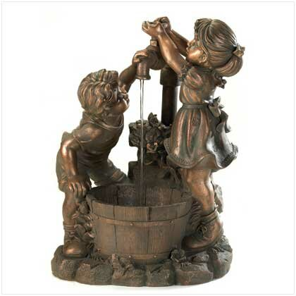 Resin Playing Children Fountain by Classic Gifts and Decor
