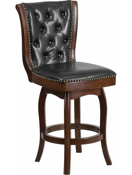 Rouillard 26'' Swivel Bar Stool by Astoria Grand