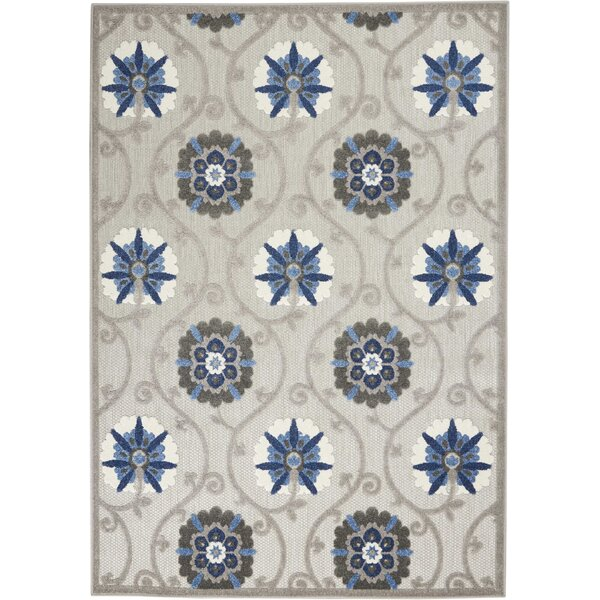 Weon Contemporary Flatweave Gray/Blue Indoor/Outdoor Area Rug by Winston Porter