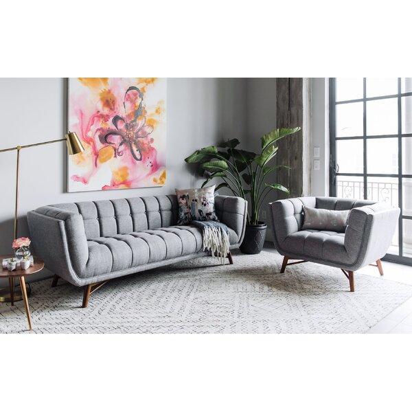 Wolken Mid-Century Modern 2 Piece Living Room Set by George Oliver