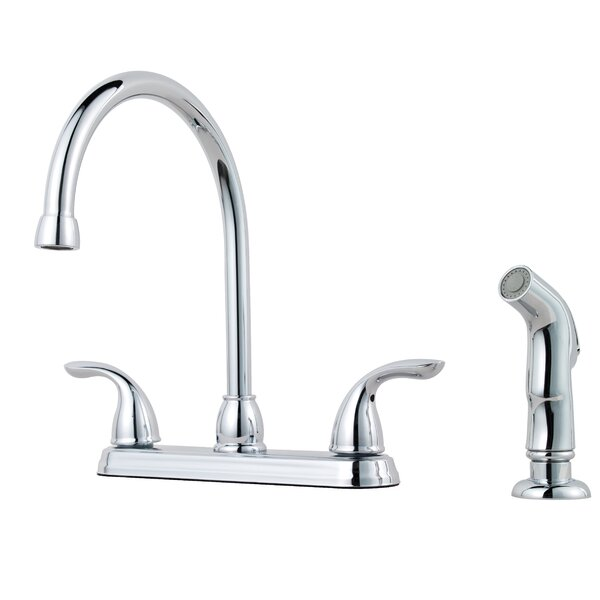Double Handle Kitchen Faucet with Side Spray