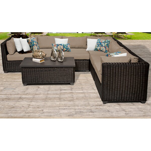 Fairfield 7 Piece Sectional Seating Group with Cushions by Sol 72 Outdoor