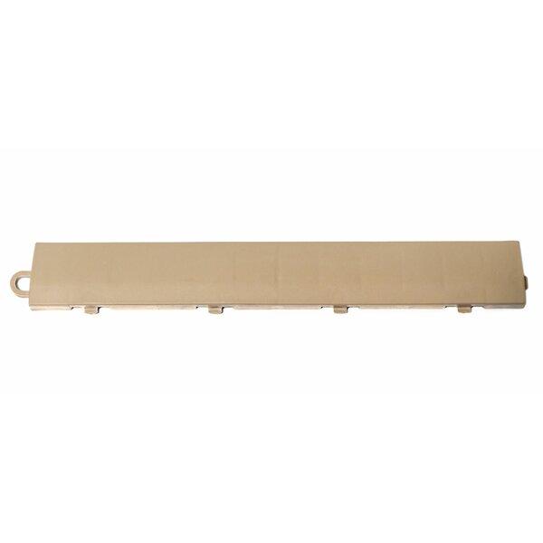 12 x 1.75 Plastic Interlocking Deck Edge Trim in Beige by DuraGrid