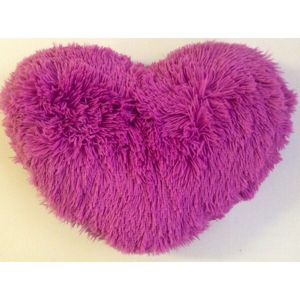 Asellus Heart Shaped Throw Pillow by Zoomie Kids
