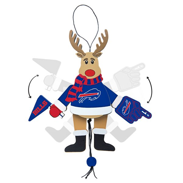 NFL Wooden Cheering Reindeer Ornament by Toppersco